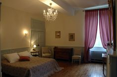 chambre de Mademoiselle Villeneuve, Mademoiselle, Curtains, Home Decor, The Mansion, Bedroom, Blinds, Decoration Home, Room Decor