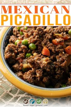 Picadillo, for much of my life, was simply a pretty, sing-song word that I vaguely associated with Latin food. I knew pretty much every Latin group that lived around me in New Jersey in the 1980s had a version: Puerto Ricans, Cubans, Dominicans… and yes, Mexicans. For a long time, I thought tacos = ground meat + seasoning. Even years later, Taco Night at college, or in friends' homes (and here you can see I had no Mexican friends at the time) | @huntgathercook #hankshaw #authenticmexicanfood Venison Recipes, Meat Recipes, Mexican Food Recipes, Dinner Recipes, Ground Beef Seasoning, Meat Seasoning, Mexican Picadillo, Picadillo Recipe, Taco Mix