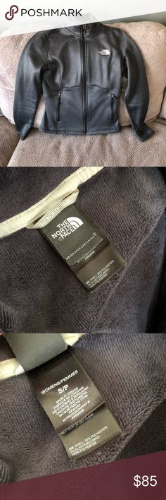 The North Face Full Zip Jacket Luxe heathered, super soft hardface fleece with brushed back and DWR (Durable water repellent) finish Two secure-zip hand pockets  Universal Product Identifiers Brand: The North Face Part Number: NF00C656-ESC The North Face Jackets & Coats