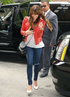 'Glee' star Lea Michele looks to be in high spirits as she skips her way into her hotel on May 21, 2014 in New York City, New York. In her n...