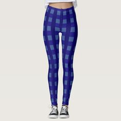 Traditional blue chequered pattern, buffalo worker leggings