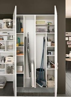 Ideas Bathroom Closet Makeover Kitchen Cabinets For 2019 - laundry room - uniek Pantry Storage Cabinet, Laundry Room Organization, Closet Storage, Kitchen Storage, Storage Cabinets, Laundry Cupboard, Vacuum Storage, Pantry Closet, Kitchen Pantry Design
