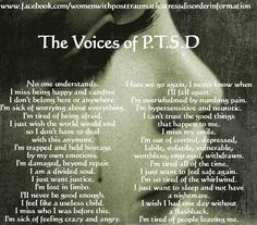 Learning to recognize the voices (lies) of PTSD is important, and as Believers in Christ, we learn to recognize Holy Spirit's voice and follow Him as He leads us into all Father God's Truth