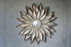 Solspeil D:87cm sølv - Nyttihus AS