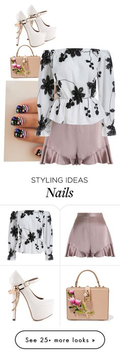 """""""Untitled #3916"""" by prettyroses on Polyvore featuring Dolce&Gabbana, Zimmermann and ZiGiny"""
