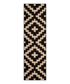 Black Tribal Laguna Wool Runner