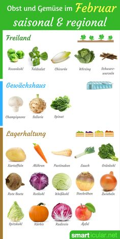 Im Februar ist das regionale und saisonale Einkaufen von Obst und Gemüse vielleicht am schwersten. Dennoch gibt es einige Sorten, die jetzt erhältlich sind!