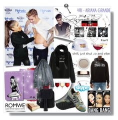 """""""www.romwe.com"""" by bellamonica ❤ liked on Polyvore featuring nanimarquina, Justin Bieber, Nicki Minaj, adidas, Givenchy and Clarins"""