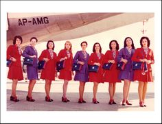 Air Malta's first Cabin Crew in the 1970s