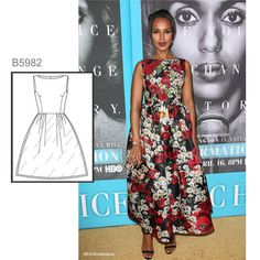 Sew the Look: Kerry Washington in a Dolce & Gabbana dress that's similar to Butterick pattern. Formal Dress Patterns, Formal Dresses, Mccalls Patterns, Sewing Patterns, Couture, Celebrity Look, Get The Look, Kerry Washington, Runway Fashion