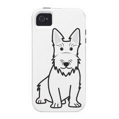 Scottish Terrier Dog Cartoon iPhone 4 Cover