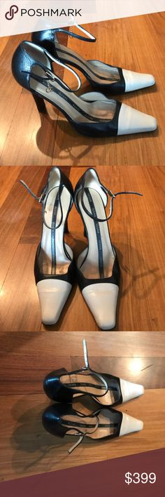 Gucci Spectator Pumps with Ankle Strap & Logo 36.5 Authentic and lovely Gucci Pumps. As you know Gucci Shoes are super compfortable and the are no exception. Excellent pre-loved Condition. Gucci Shoes Heels