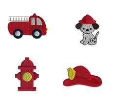 Mini Fireman Set Machine Embroidery Designs-INSTANT by SewChaCha