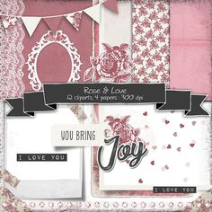 Vintage Baby Girl Digital Scrapbooking Kit With Clipart And Papers O Love Cliparts Roses For
