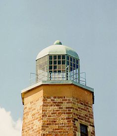Winslow Lewis Style 'Bird-Cage' Lantern-   This is the 'Bird-Cage' Lantern designed by Winslow Lewis in 1812 and the style used in American lighthouses for the next 40 years, up to 1850. This lantern is on the Old Cape Henry Lighthouse in Virginia.  (from USLHS FB page)