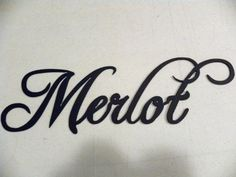 Merlot Wine Word Metal Wall Art Home Kitchen Decor Bar Decorative Indoor Sign