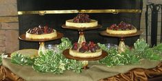 Nathan would like assorted cheesecakes for the grooms cake :)