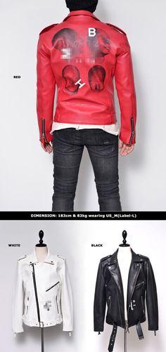 Funky Back Print Belted Biker-Leather 106 - GUYLOOK