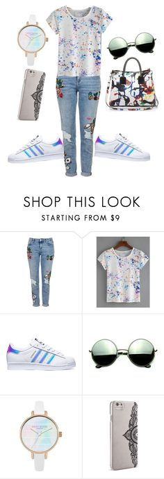"""""""Untitled #112"""" by swag345 ❤ liked on Polyvore featuring Topshop, adidas, Milly, Revo and Nanette Lepore"""