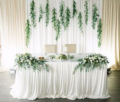Coolmade Artificial Vines Fake Greenery Garland Willow Leaves Artificial Flowers with Total 30 Stems Hanging Plant for Wedding Party Home Garden Wall Decoration Image 2 of 7 Diy Wedding Decorations, Reception Decorations, Wedding Table Garland, Wedding Backdrop Design, Wedding Reception Backdrop, Wedding Centerpieces, Indoor Wedding Receptions, Head Tables, Greenery Garland