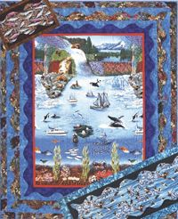 Alaska Waves Quilt Pattern. The wave borders on this quilt are the pefect way to feature ocean themed fabric. http://www.kayewood.com/Alaska-Waves-Lap-Quilt-Table-Runner-and-Placemat-Pattern-by-Qui-QWT-ALWA.htm $9.00