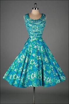 1950s dress  BUNNY'S CASUALS MIAMI
