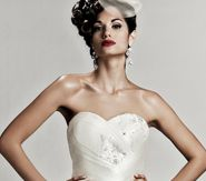 ANDROMEDA - Wedding Gown / 2011 Collection - by Matthew Christopher - Available colours : White & Off White (close up)