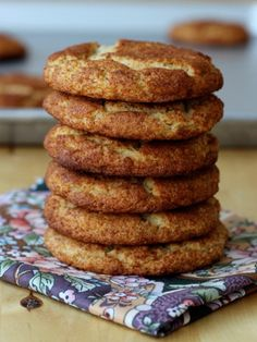 Almond Flour Snickerdoodles (Gluten Free); uses almond flour (or almond meal) in place of wheat flour for healthier cookie; might also use stevia in place of other sugar.