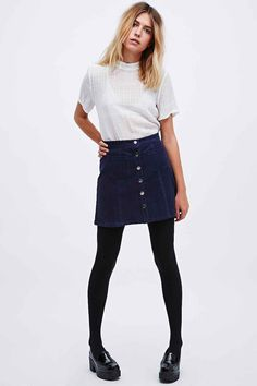 Cooperative A-Line Cord Skirt