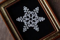 雪の結晶のタティングレース(試作)の画像 | kinari タティングレース てしごと日記