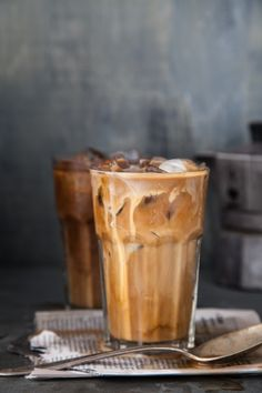 Iced coffee. Perfect drink for a warm summer morning