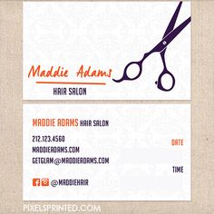 hair salon business cards, hairstylist business cards, hair dresser business cards, hair stylist cards