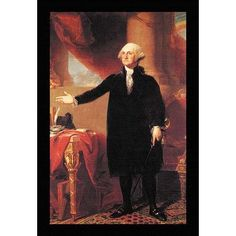 Buyenlarge 'George Washington' by Gilbert Stuart Memorablia Framed Painting Print
