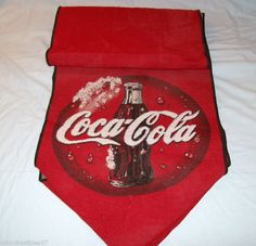 """Vintage Coca-Cola Red Tapestry Table Runner 67"""""""