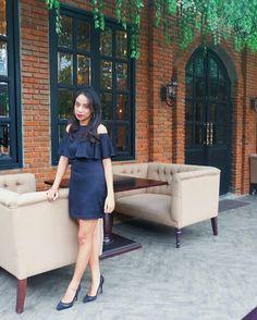 #black#sabrina#dress#outfit