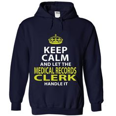 MEDICAL RECORDS CLERK Because BADASS Miracle Worker Isn't An Official Job Title T-Shirts, Hoodies. VIEW DETAIL ==► https://www.sunfrog.com/No-Category/MEDICAL-RECORDS-CLERK--Badass-4539-NavyBlue-Hoodie.html?id=41382