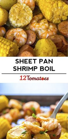 Sheet Pan Shrimp Boil - A true shrimp boil can be kind of an ordeal what with the gigantic pot and the outdoor mess, but our sheet pan version of the summer favorite makes an easy weeknight meal of it! Seafood Recipes, Dinner Recipes, Cooking Recipes, Healthy Recipes, Cajun Recipes, Fish Recipes, Recipies, Sheet Pan Suppers, Shrimp Dishes