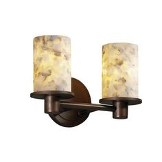 Alabaster Rocks! Rondo Two-Light Polished Chrome Bath Fixture - (In Polished Chrome)