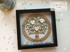 Personalised Framed Oak Veneer Family Tree @youmeweshop Beautiful oak veneer, stained family trees. All frames are made to order, so choice of frame colour, text and colour and decoration can be chosen. #personalised #family #familytree #frame