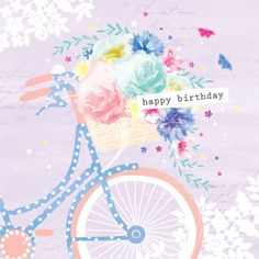 Debbie Edwards - Female Birthday Mothers Day Floral Bike With Flowers In Basket