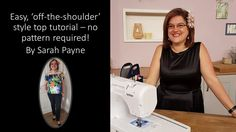 Make an Off-The-Shoulder top without a pattern with Sarah Payne