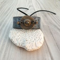 Painted Leather Cuff Bohemian Bracelet or Ankle by GypsyIntent, $30.00