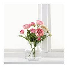 IKEA - SMYCKA, Artificial flower, Lifelike artificial flower that remain just as fresh-looking and beautiful year after year.You can bend and adjust the flower any way you want because of the steel wire in the stem.The stem can be shortened by using cutting pliers.