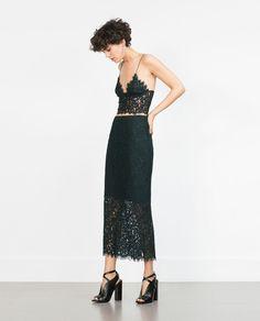 Imagen 1 de TOP ENCAJE de Zara
