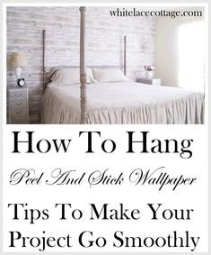 How To Hang Peel And Stick Wallpaper WOW I can't believe this is peel and stick wallpaper. It looks Bedroom Crafts, Bedroom Decor, Bedroom Ideas, Peal And Stick Wallpaper, Removable Wallpaper For Renters, Peel And Stick Shiplap, Wood Wallpaper, Farmhouse Wallpaper, Faux Shiplap
