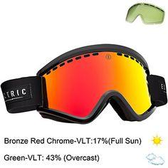 Electric EGV Goggles, Gloss Black-Bronze Red Chrome + Bonus Lens
