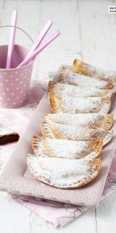 Empanadillas de crema de cacao y avellanas. Receta
