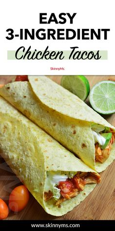 Easy Chicken Tacos Easy Chicken Tacos Make Taco Tuesday a simple one with these tasty Easy Chicken Tacos. Use this family-pleasing recipe to whip up tacos in no time! Clean Eating Recipes For Dinner, Clean Eating Meal Plan, Healthy Dinner Recipes, Appetizer Recipes, Healthy Eating, Simple Recipes, Skinny Recipes, Appetizer Ideas, Healthy Tips