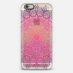 HAPPY BOHO MANDALA - CRYSTAL CLEAR PHONE CASE FOR CASETIFY BY NIKA MARTINEZ