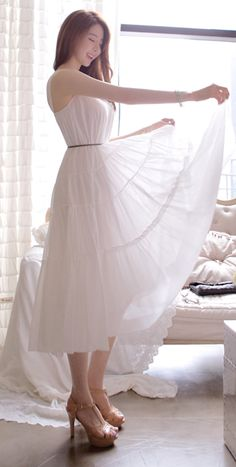 [LUXE ASIAN: ASIAN STYLE] White cancan dress,asian style,korean style,dress,cute dress,style,fashion,pretty,sexy